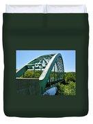 Bridge Spanning Connecticut River Duvet Cover
