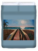 Bridge To Beach Duvet Cover