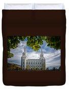 Brigham City Temple Leaves Arch Duvet Cover