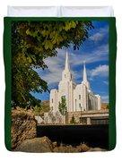 Brigham City Temple Stones Duvet Cover