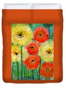 Bright Colored Flowers Shine Duvet Cover