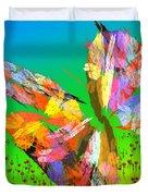 Bright Elusive Butterflys Of Love Duvet Cover
