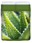 Bright Green Succulent Duvet Cover