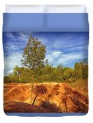 Bright Light On The Badlands Duvet Cover