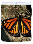 Bright Orange Monarch Butterfly Duvet Cover