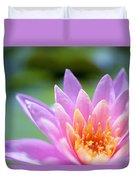 Bright Pink Water Lily II Duvet Cover