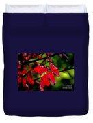Bright Red Duvet Cover