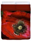 Bright Red Poppy Duvet Cover