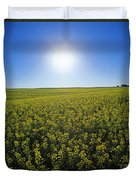 Bright Sun And Bloom Stage Mustard Duvet Cover