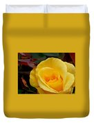 Bright Yellow Rose Duvet Cover