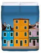 Brightly Painted Houses Of Burano Duvet Cover