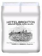 Brighton Beach Hotel, 1880 Duvet Cover