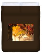 Brilliant Autumn Color Duvet Cover