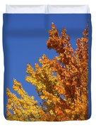 Brilliant Fall Color And Deep Blue Sky Duvet Cover