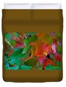 Brilliant Red Maple Leaves Duvet Cover