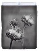 Bristle Thistle In Black And White Duvet Cover