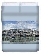 Brixham Harbour - Panorama Duvet Cover