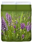 Broad-leaved Marsh Orchid Dactylorhiza Duvet Cover