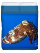 Broadclub Cuttlefish, Papua New Guinea Duvet Cover