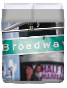 Broadway Street Sign I Duvet Cover