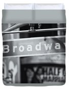Broadway Street Sign II Duvet Cover