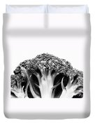 Broccoli On White Background Duvet Cover by Gaspar Avila