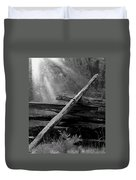 Broken Fence In Morning Light At Yosemite Duvet Cover