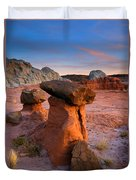 Brokentop Hoodoo Sunset Duvet Cover
