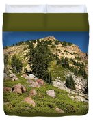 Brokeoff Mountain Duvet Cover