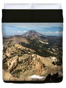 Brokeoff Mountain Scenery Duvet Cover