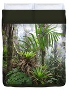 Bromeliads And Tree Ferns  Duvet Cover by Cyril Ruoso