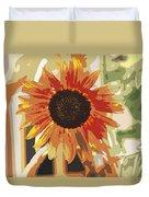 Bronze Sunflower Duvet Cover