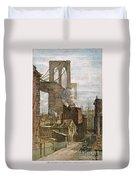 Brooklyn Bridge, 1882 Duvet Cover