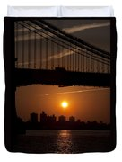Brooklyn Bridge Sunrise Duvet Cover