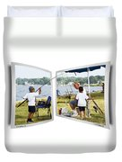 Brothers Fishing - Oof Duvet Cover