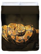 Brown And Black Snake Duvet Cover
