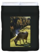 Brown Cow Alps Duvet Cover