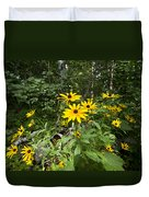 Brown-eyed Susan In The Woods Duvet Cover by Gary Eason
