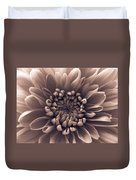 Brown Flower Duvet Cover
