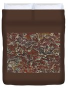 Brown Stone Abstract Duvet Cover