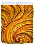 Brown Swirl Duvet Cover