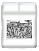 Bruegel: Ice Skaters Duvet Cover