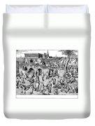 Bruegel: Ice Skaters Duvet Cover