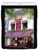 Brussels - Restaurant La Villette With Trees Duvet Cover by Carol Groenen