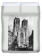 Brussels: Cathedral, 1838 Duvet Cover