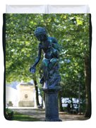 Brussels Royal Garden Fountain Duvet Cover