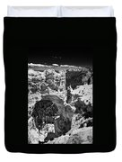 Bryce Canyon Arch - Black And White Duvet Cover