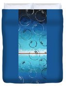 Bubbles Of Energy On A Blue Horizon Duvet Cover