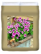Bucket Of Blooms Duvet Cover