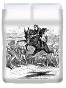 Bucking Mule, 1879 Duvet Cover